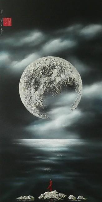 Martin Beaupré artiste peintre || La lune au-dessus des rêves